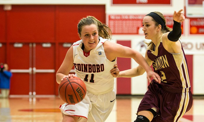 Laurel Lindsay's (above) five straight points in overtime surged the Scots past Gannon, 55-54, on Wednesday. (Contributed Photo/Edinboro Sports Information)