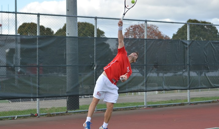 Matias Aignasse (above) and the Edinboro tennis teams competed in the Spring Tennis Fest in Hilton Head Island, S.C. (Contributed photo/Edinboro University Sports Information.)