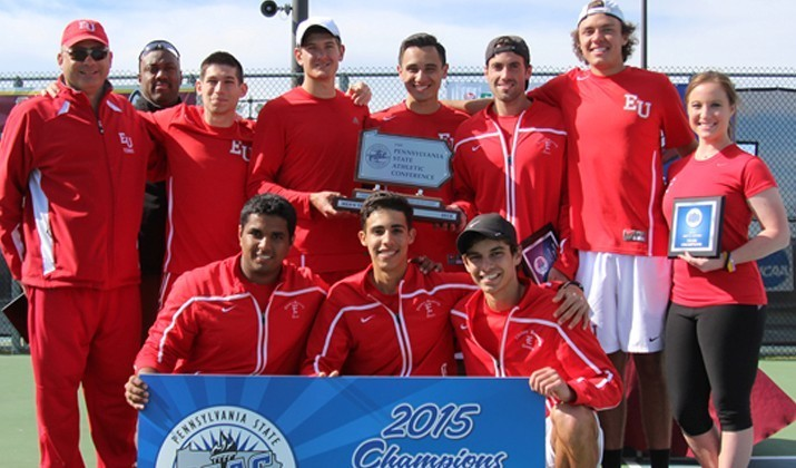 The Edinboro men's tennis team (above) won its second-straight PSAC championship (Contributed Photo/Edinboro University Sports Information).