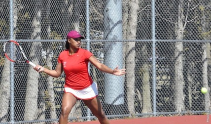 Women's tennis competed at the regional championship in Erie (Contributed Photo/Edinboro University Sports Information).