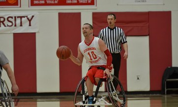 The Edinboro wheelchair basketball team opened up its season this weekend at Canadian Academy (Contributed/EU Sports Information).