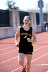 Senior Abby Smith is part of a long list of talented distance runners on this year's Northwestern girls track and field team (Phoro: Nancy Scholz/courtesy of The Press).