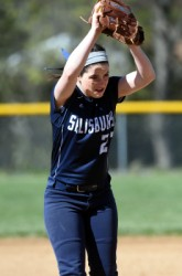 Brooke Rogers pitched a complete game shutout in Salisbury's 1-0 win against Northwestern last week (Press photo/Nancy Scholz/Courtesy of The Press).